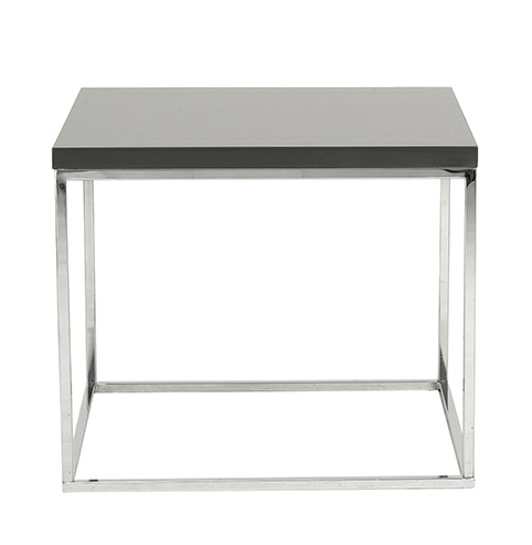 Kings Road End Table GRAY/CHROME