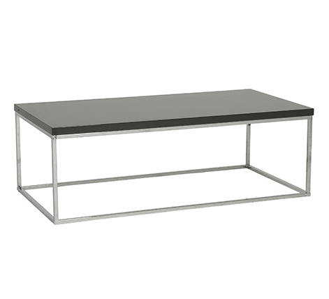 Kings Road Rect. Coffee Table GRAY/CHROME