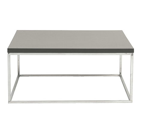 Kings Road Sq. Coffee Table GRAY/CHROME - Apt2B - 1