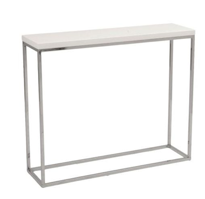 Kings Road Console Table WHITE/CHROME - Apt2B