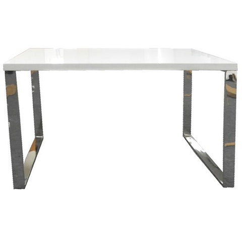 Kings Road Desk WHITE/CHROME - Apt2B - 1