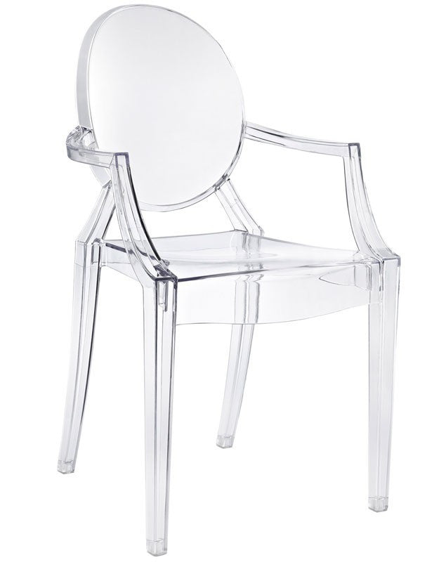 Magnolia Arm Chair Clear Acrylic Apt2b