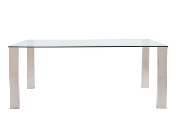 Marietta Dining Table GLASS/STAINLESS STEEL