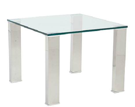 Marietta Side Table GLASS/STAINLESS STEEL