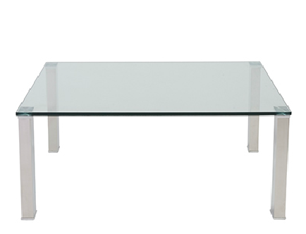 Marietta Sq. Coffee Table GLASS/STAINLESS STEEL - Apt2B - 1