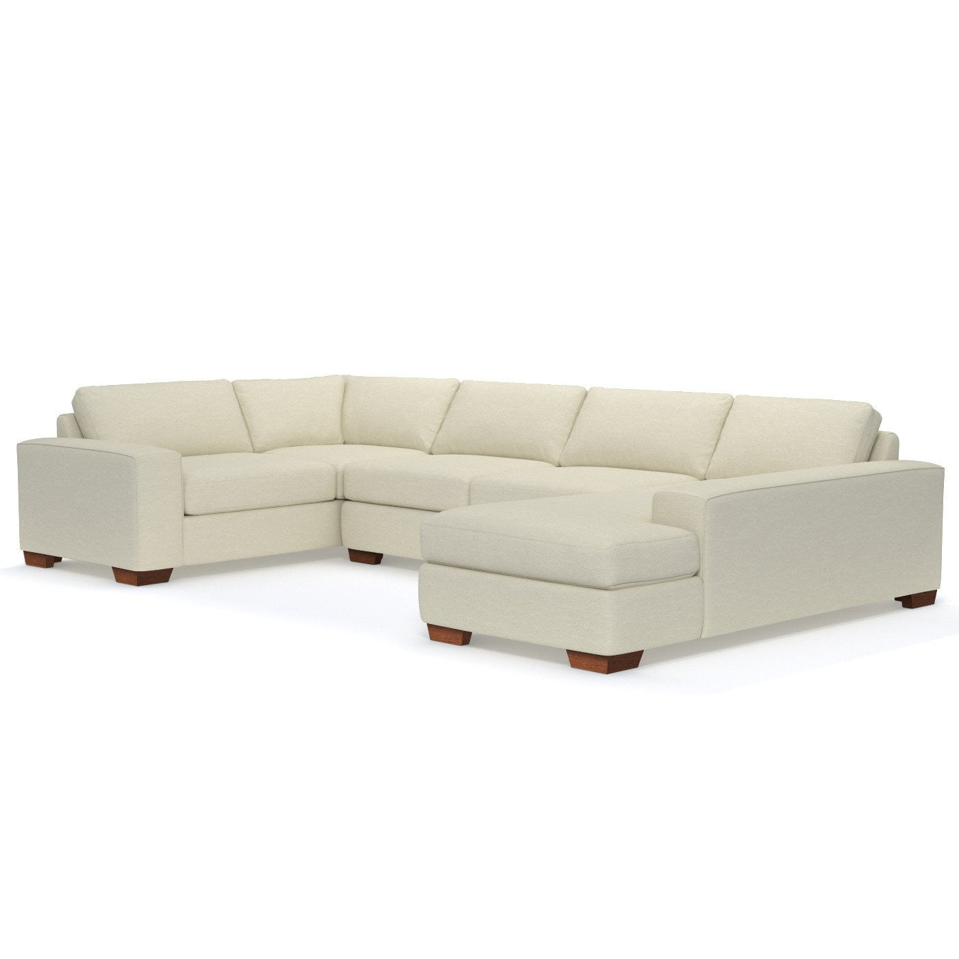 Cream Sectional Sofa American Casual Ellery Lshaped