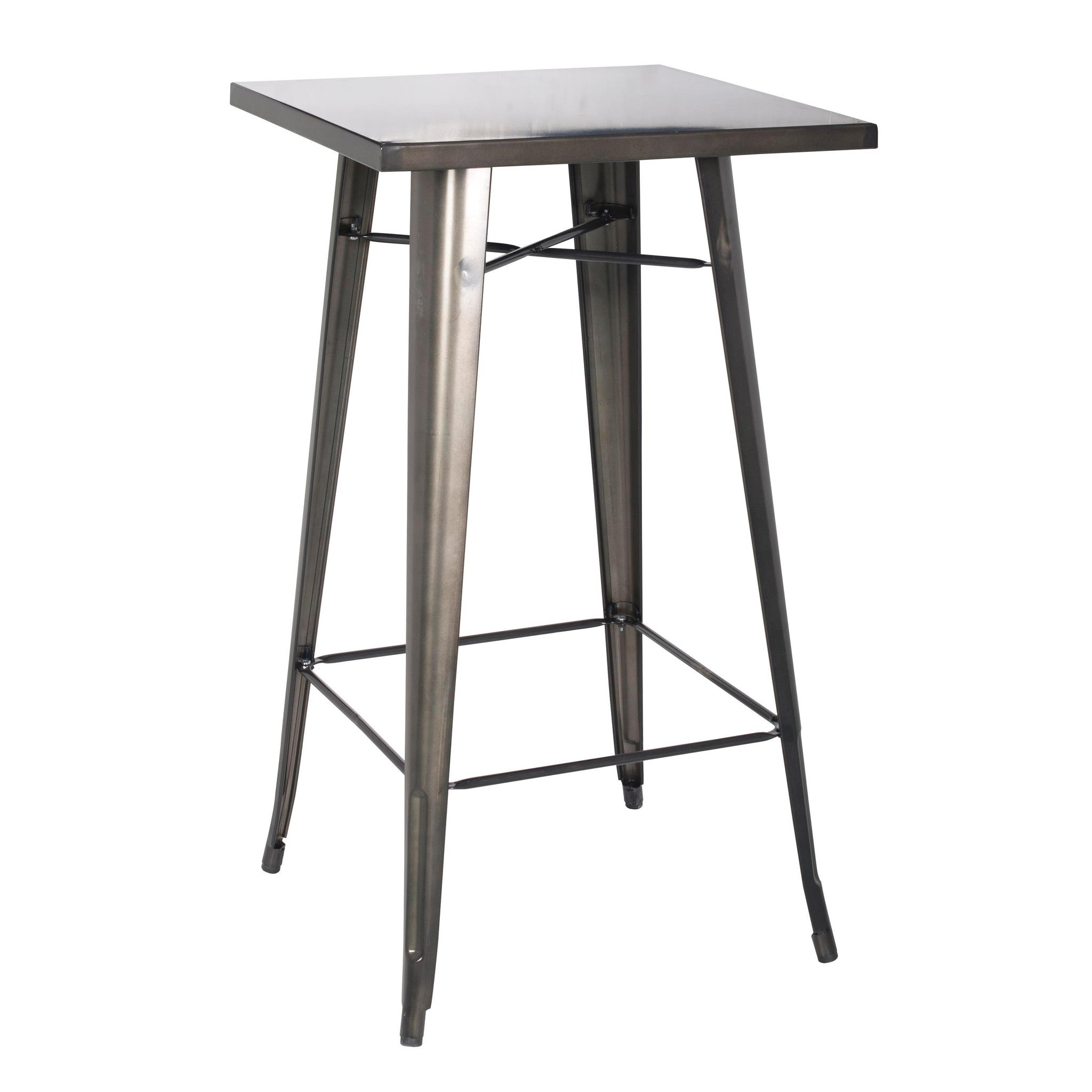 Oxford Metal Bar Table GUNMETAL