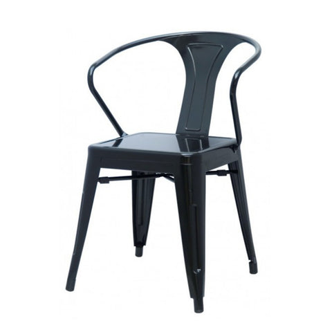 Oxford Metal Arm Chair- Set of 4 BLACK - Apt2B