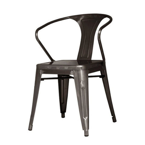 Oxford Metal Arm Chair- Set of 4 GUNMETAL - Apt2B
