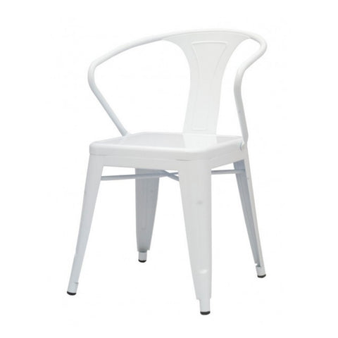 Oxford Metal Arm Chair- Set of 4 WHITE - Apt2B