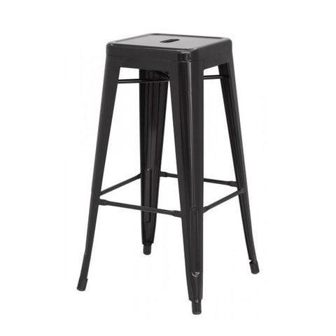 Oxford Metal Bar Stool- Set of 4 BLACK - Apt2B
