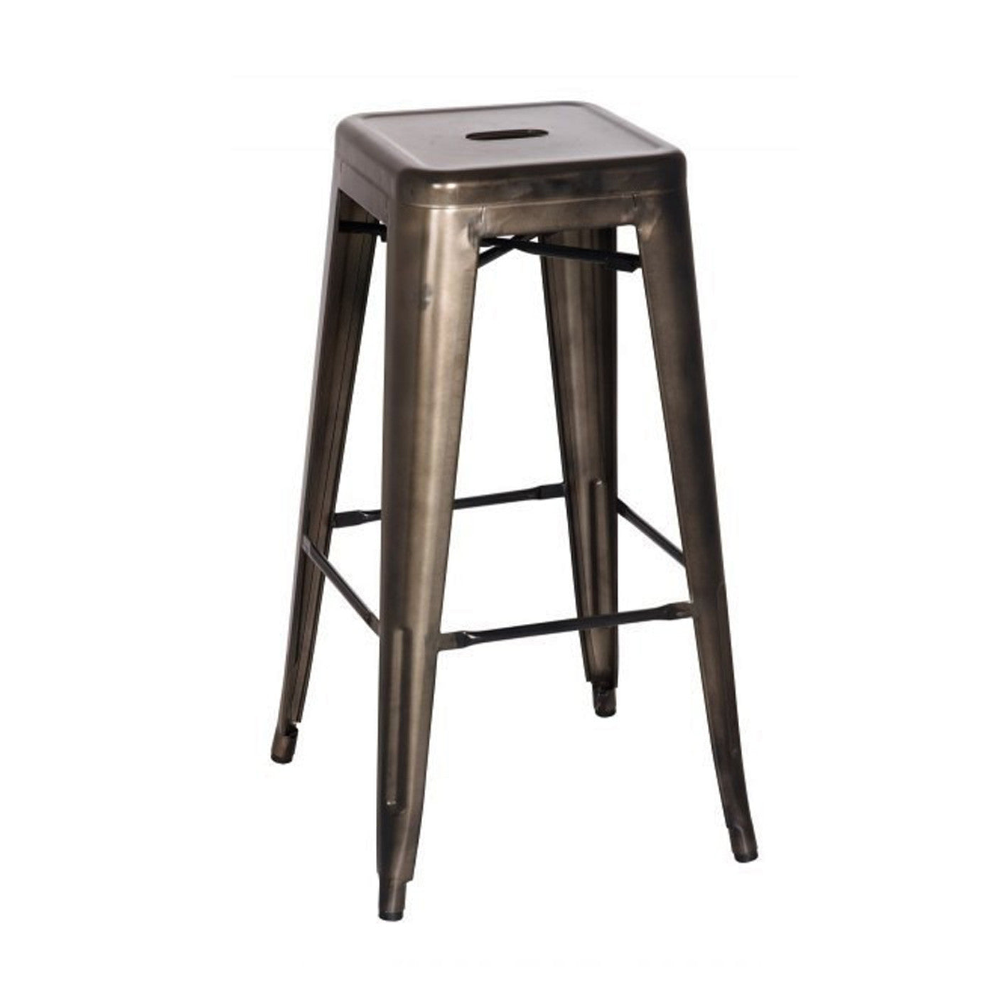 Oxford Metal Bar Stool- Set of 4 GUNMETAL