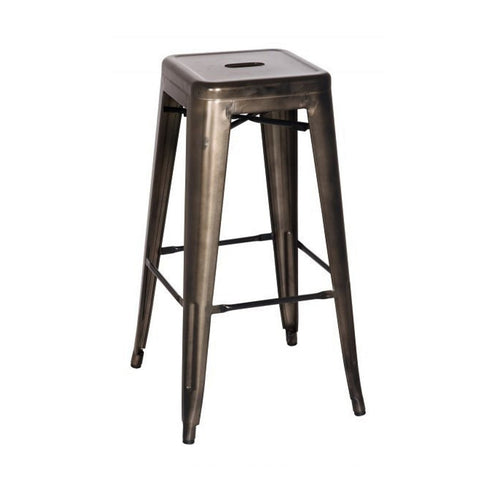 Oxford Metal Bar Stool- Set of 4 GUNMETAL - Apt2B
