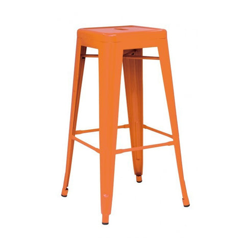 Oxford Metal Bar Stool- Set of 4 ORANGE - Apt2B