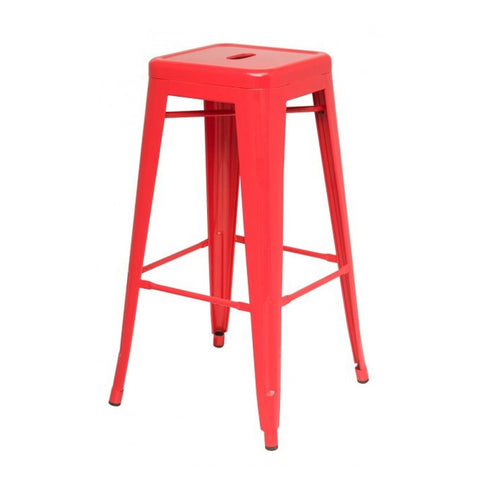Oxford Metal Bar Stool- Set of 4 RED - Apt2B