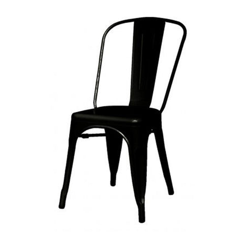 Oxford Metal Chair- Set of 4 BLACK - Apt2B