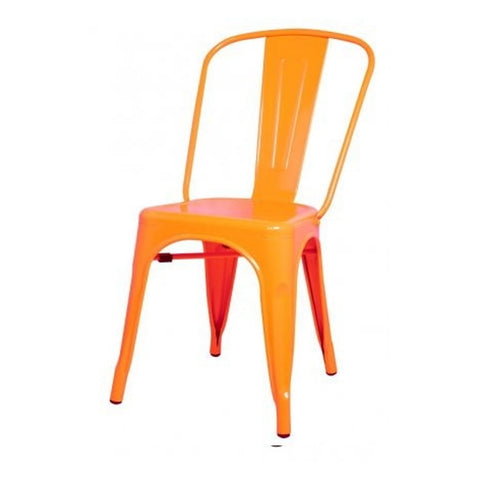 Oxford Metal Chair- Set of 4 ORANGE - Apt2B