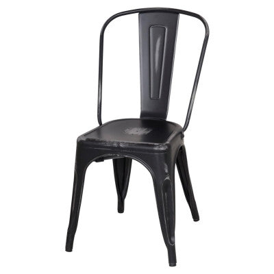 Oxford Metal Chair- Set of 4 DISTRESSED BLACK - Apt2B