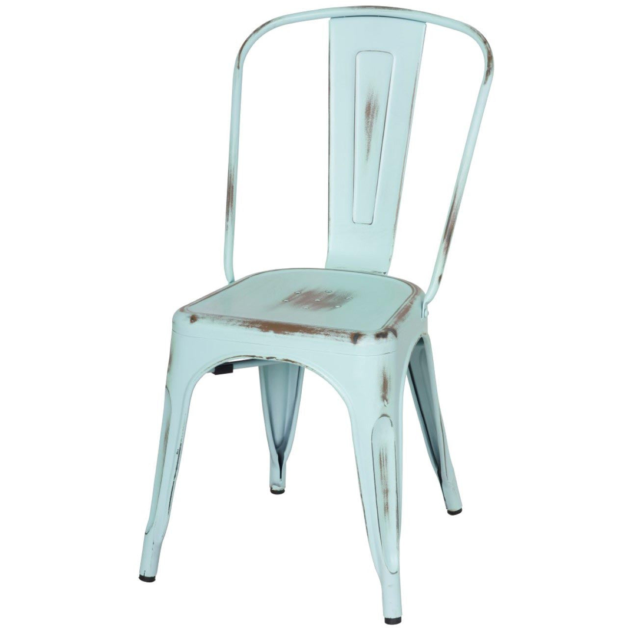Oxford Metal Chair- Set of 4 DISTRESSED BLUE