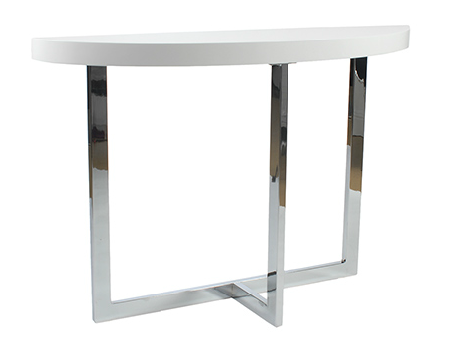 San Dimas Console Table WHITE/CHROME - Apt2B - 1