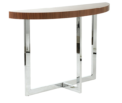 San Dimas Console Table WALNUT/CHROME - Apt2B - 1