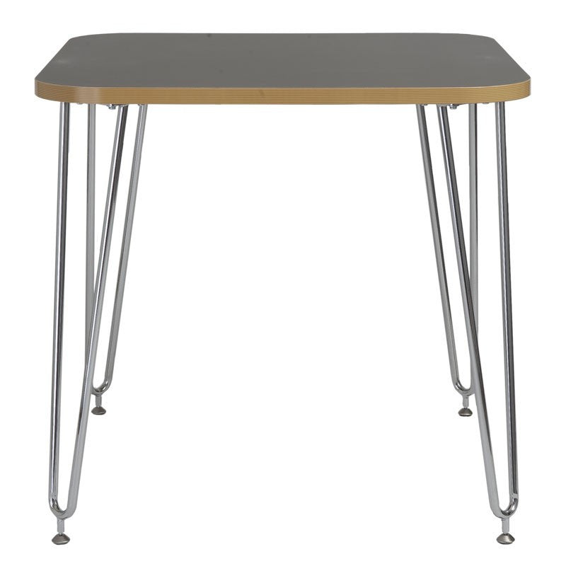 Rosemead Table GRAY/CHROME
