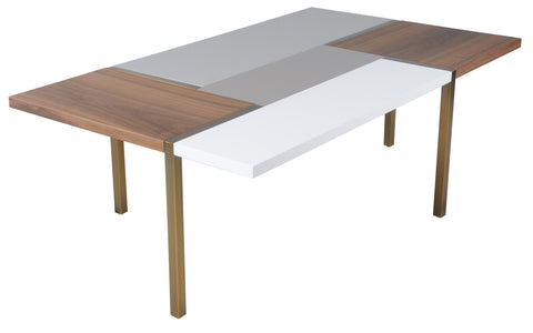 Rossmoor Coffee Table WHITE/GREY/WALNUT - Apt2B - 1
