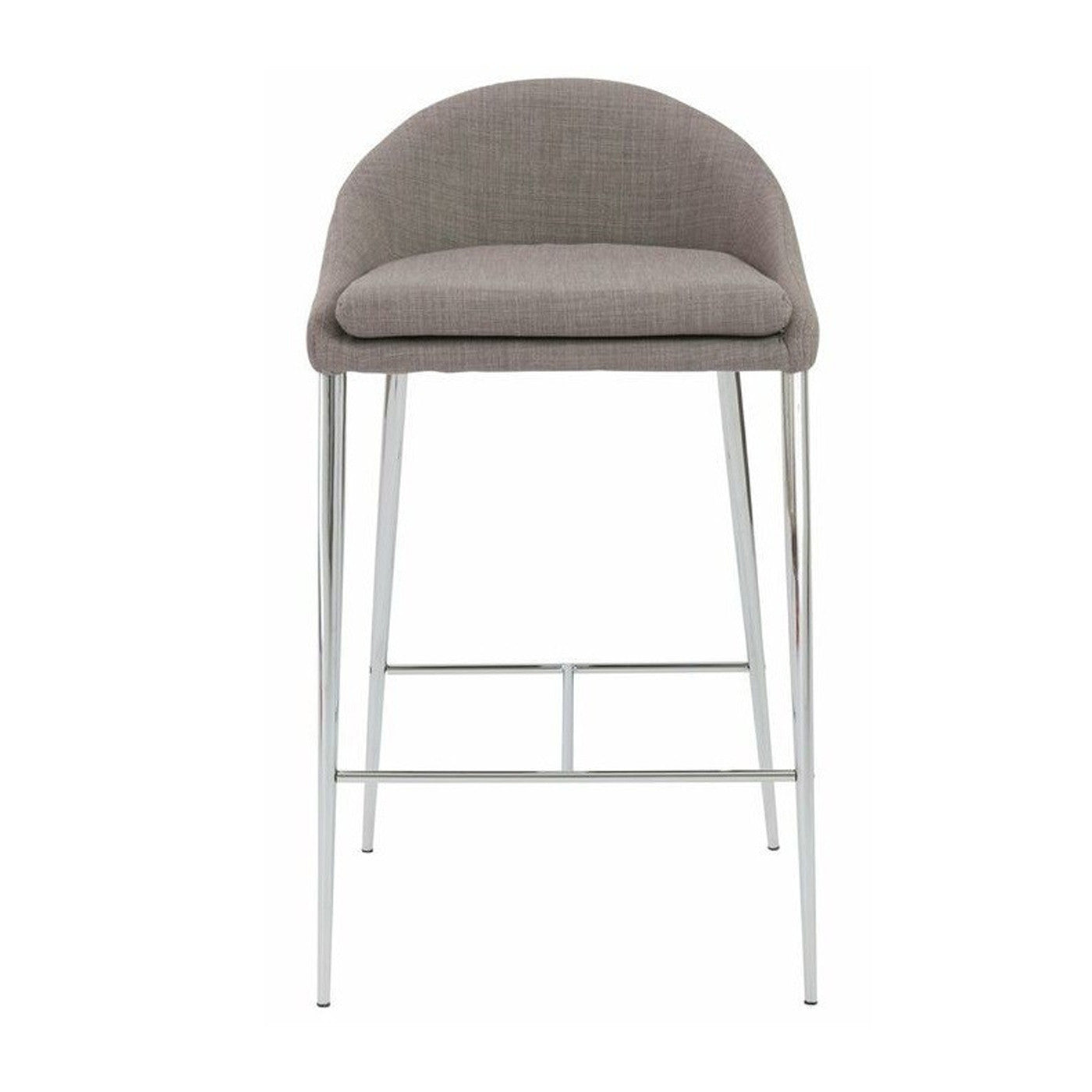 Smiley Counter Stool Set of 2 GRAY