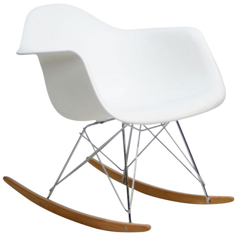 Sunset rocking chair white apt2b for Eames a bascule