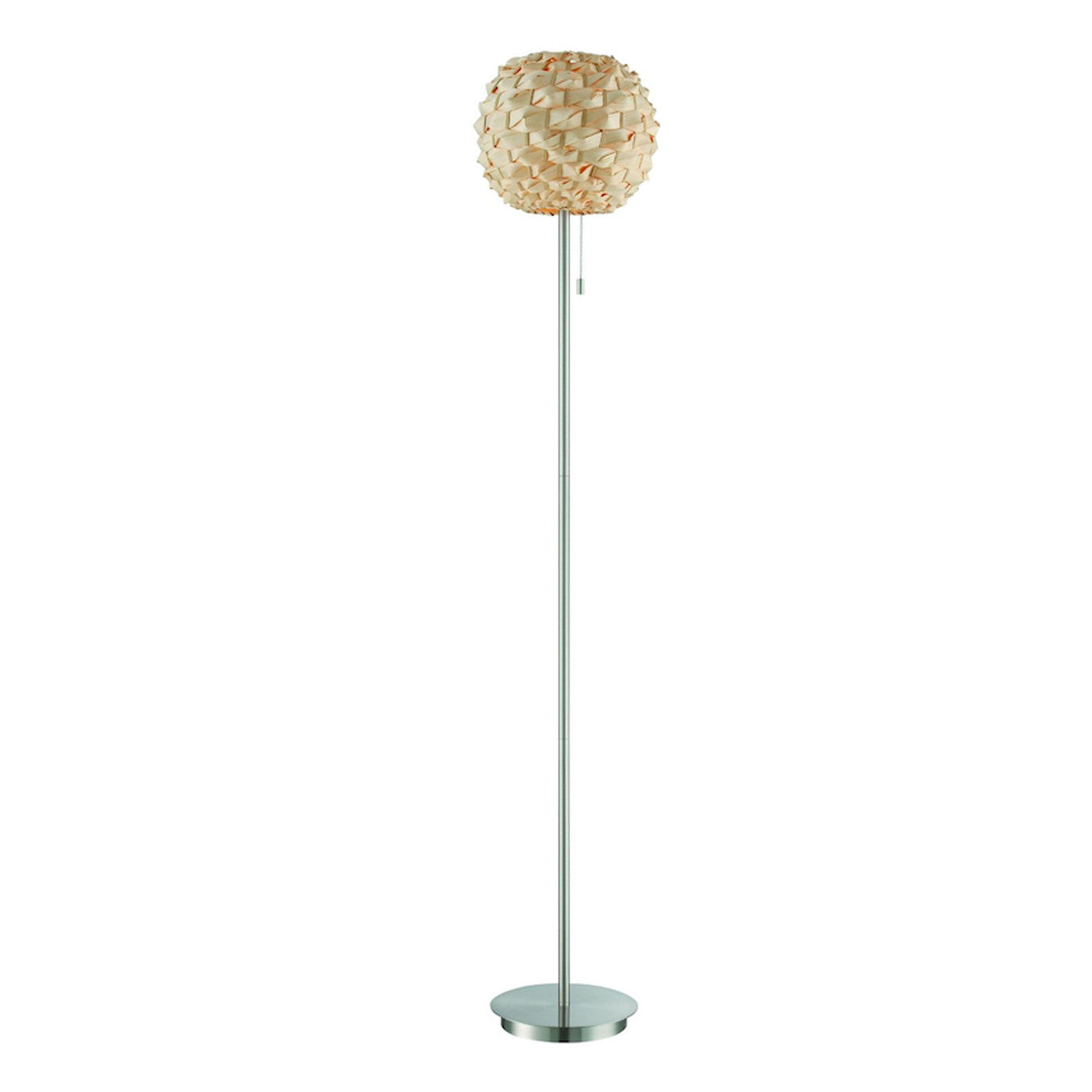 Urchin Rattan Floor Lamp POLISHED STEEL   Apt2B