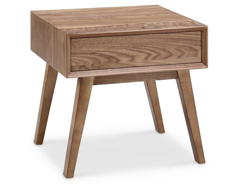 Victory 1 Drawer Side Table WALNUT - Apt2B