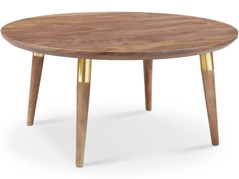 Victory Round Coffee Table WALNUT/GOLD - Apt2B - 1