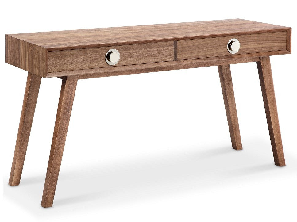 Victory Console Table WALNUT/SILVER