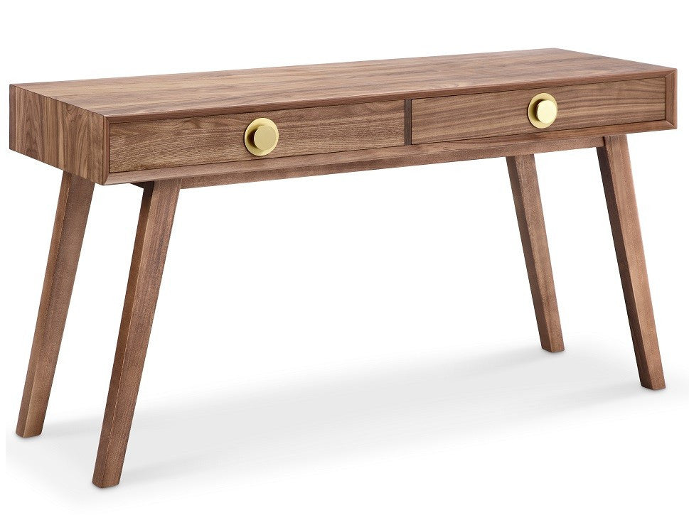 Victory Console Table WALNUT/GOLD