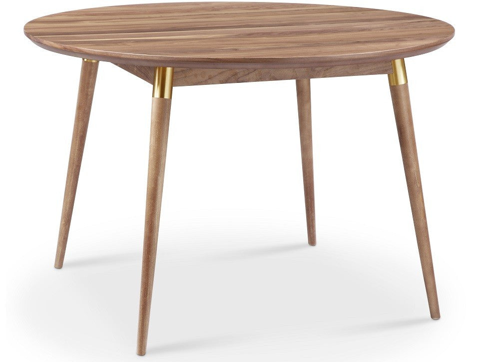 Victory Walnut Gold Round Dining Table Apt2Bcom