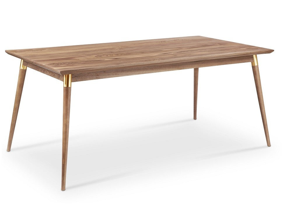 Victory Rect. Dining Table WALNUT/GOLD
