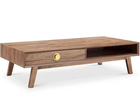 Victory Rect Coffee Table WALNUT/GOLD - Apt2B - 1