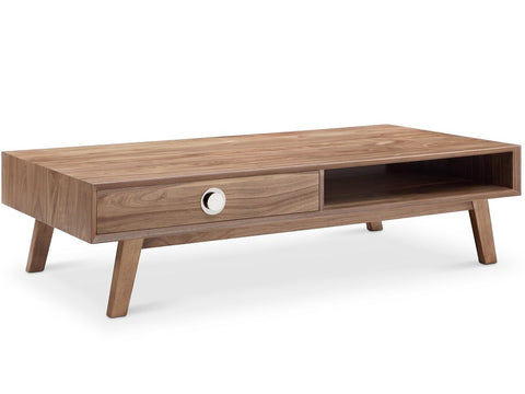 Victory Rect Coffee Table WALNUT/SILVER - Apt2B - 1