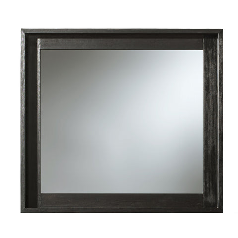 Westmont Square Mirror BLACK/BRUSHED STEEL - Apt2B - 1