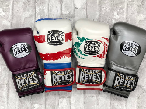 Cleto Reyes Gloves Sawgrass Fight Shop Platinum, Purple Gloves, USA and Mexico