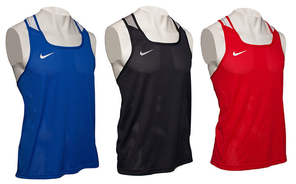 Nike Boxing Tank Competition Blue Black and Red