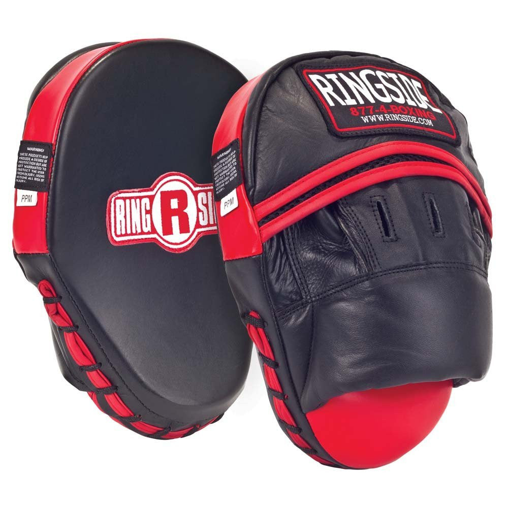 RINGSIDE PANTHER FOCUS MITT PPM BLACK/RED - MSM FIGHT SHOP