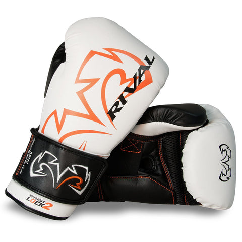 RIVAL GLOVES RS11V BOXING VELCRO WHITE/BLACK - MSM FIGHT SHOP