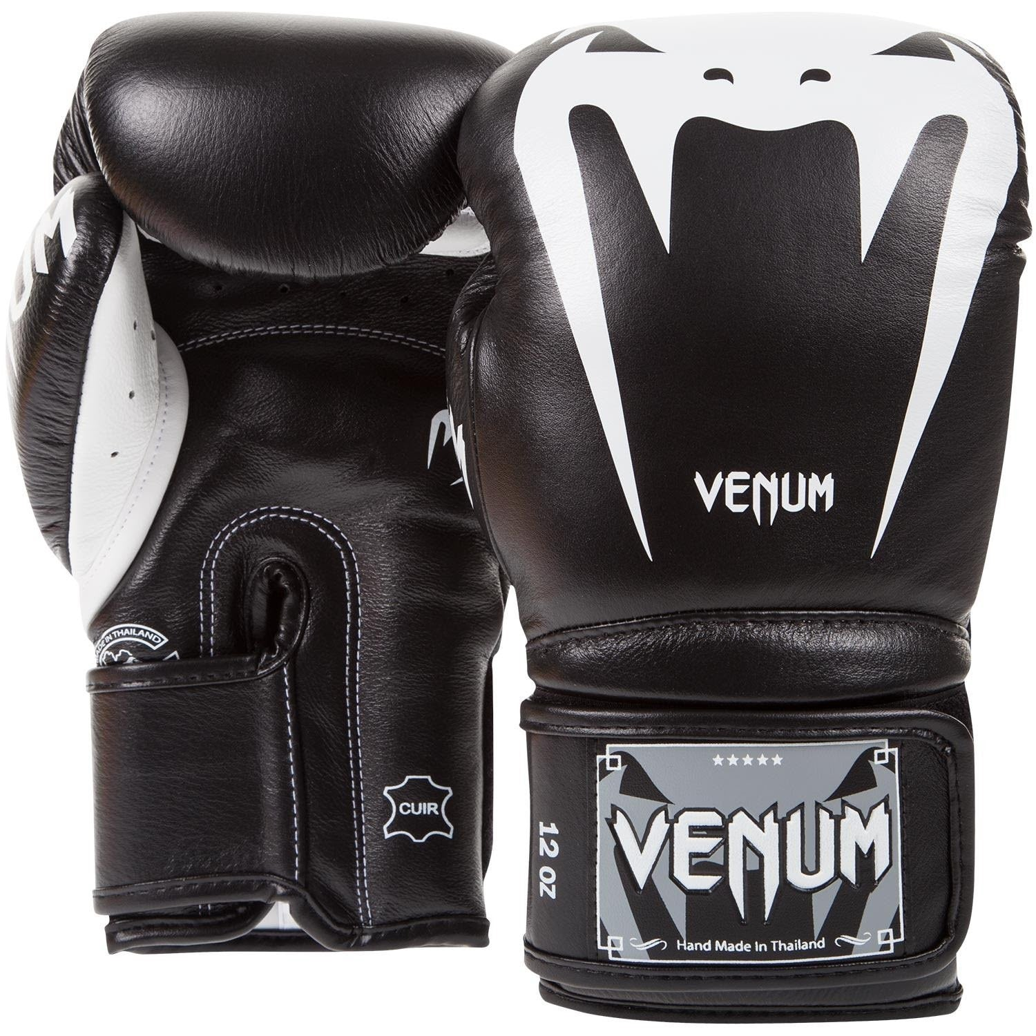 VENUM GLOVES GIANT 3.0 VELCRO BLACK/WHITE - MSM FIGHT SHOP