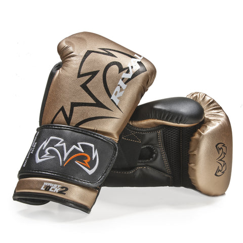 RIVAL GLOVES RS11V BOXING VELCRO GOLD/BLACK - MSM FIGHT SHOP
