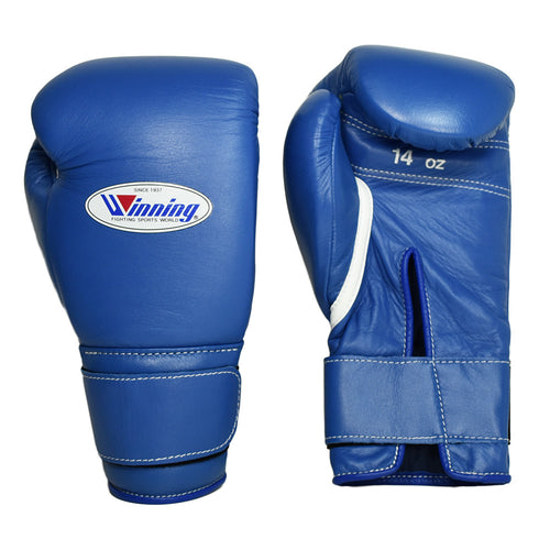 WINNING GLOVES VELCRO BOXING BLUE - MSM FIGHT SHOP
