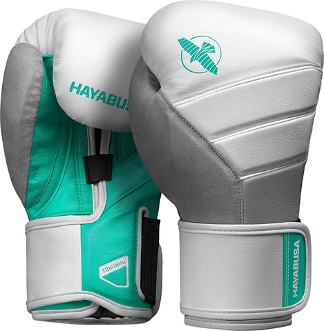 HAYABUSA GLOVES BOXING T3 WHITE/TEAL - MSM FIGHT SHOP