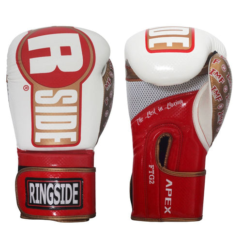 RINGSIDE GLOVES SPARRING APEX FTG2 WHITE/RED