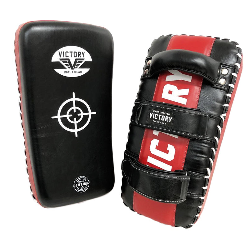 VICTORY THAI PADS LEATHER CLASSIC SERIES - BLACK/RED