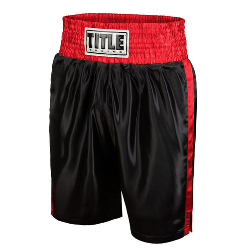 TITLE BOXING SHORTS YOUTH EDGE BLACK/RED - MSM FIGHT SHOP